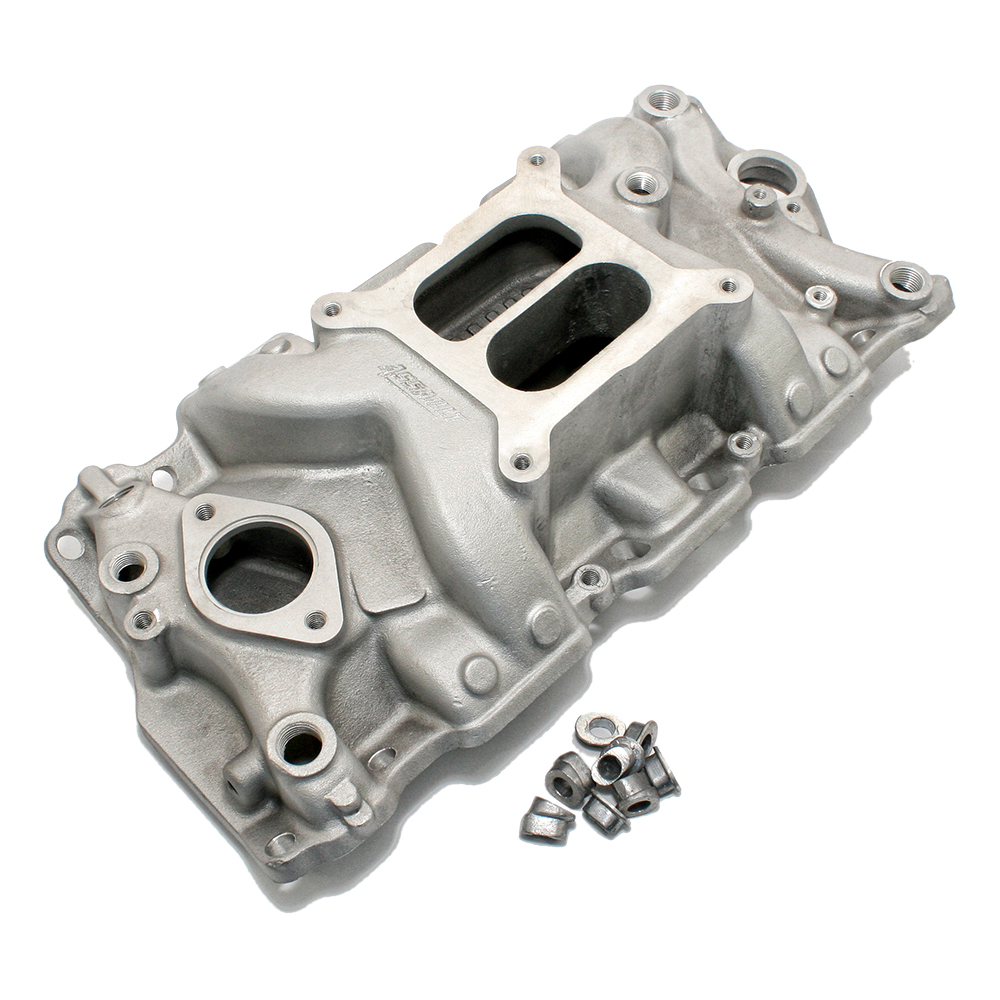 Chevy Small Block Dual Plane Plus Satin Intake Manifold