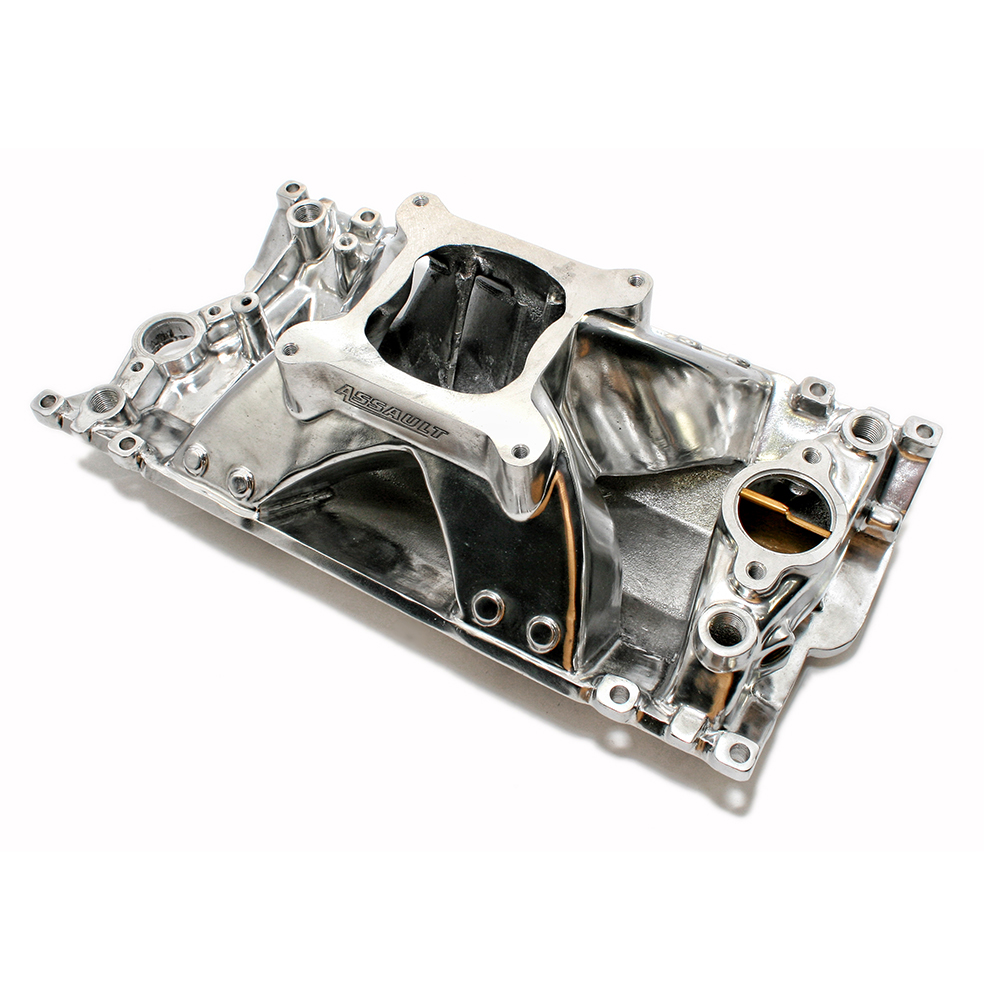 Chevy Small Block Single Plane High Rise Vortec Polished